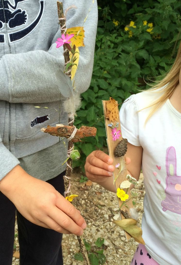 Nature Craft: making a journey stick | Nature activities