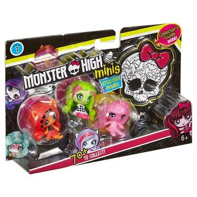 Monster High Minis Draculaura, Venus McFlytrap, and Toralei Figure 3-Pack