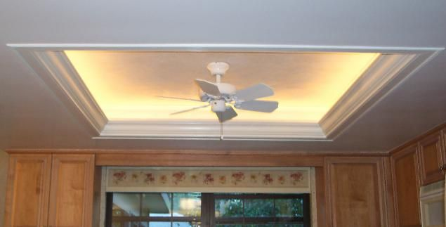 I eventually plan to add some LED strip lights to the ceiling tray in the living room.