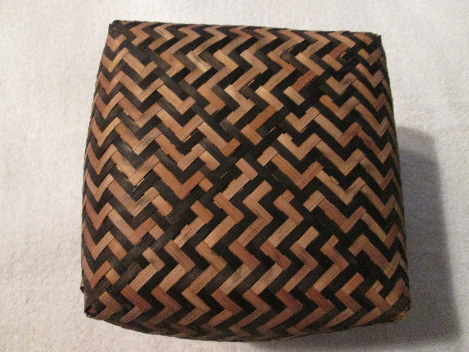 Antique Cherokee Indian River Cane Basket (Early 1900's ?)