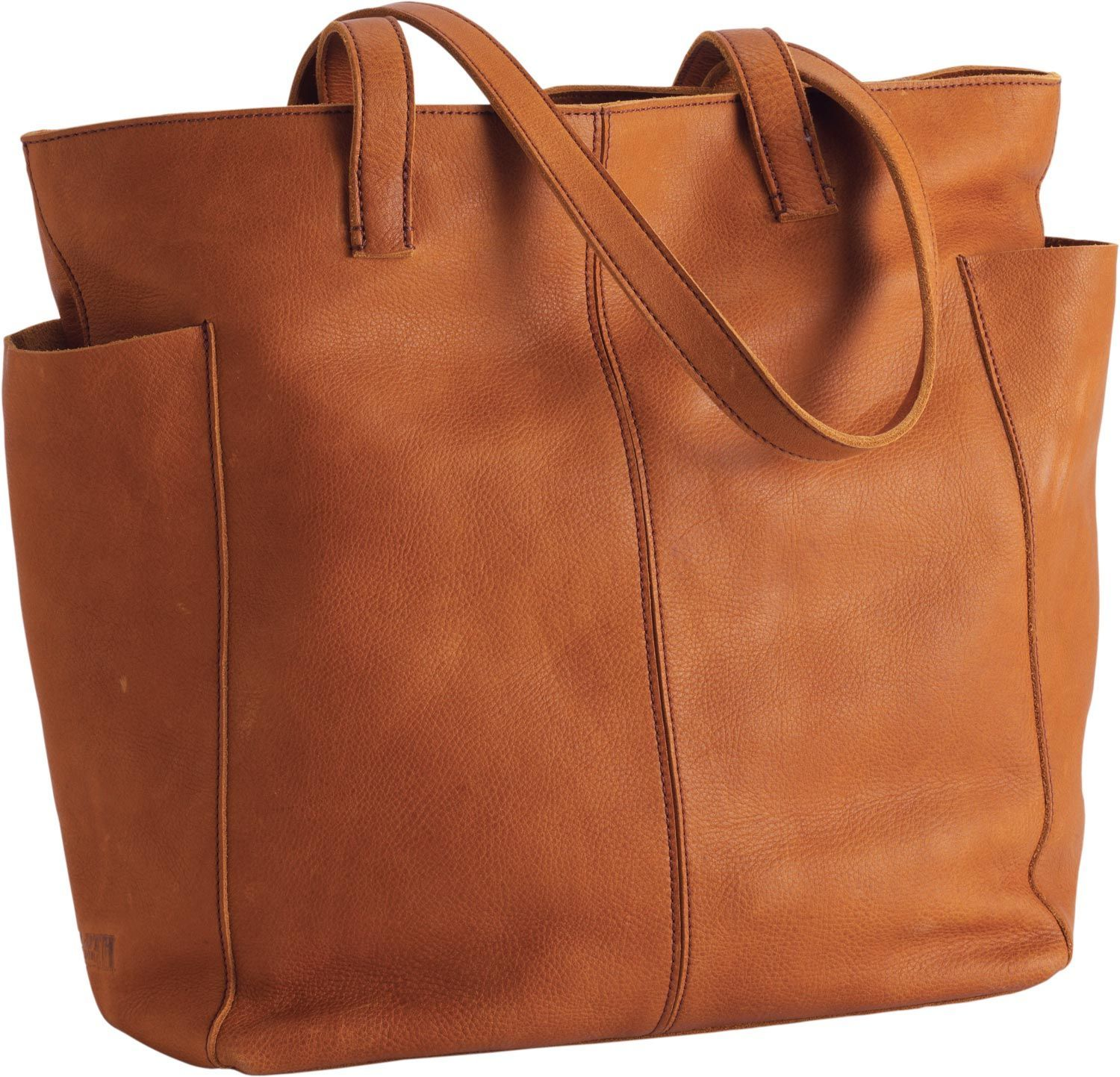 Women S Lifetime Leather Travel Tote Bag From Duluth Trading Company Is Made Of Beautiful Full Grain This Gets Better With Age Softening And