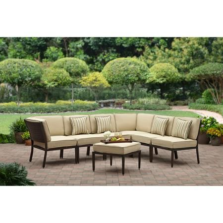 Better homes and gardens shutter 7 piece outdoor sectional - Better home and garden furniture ...