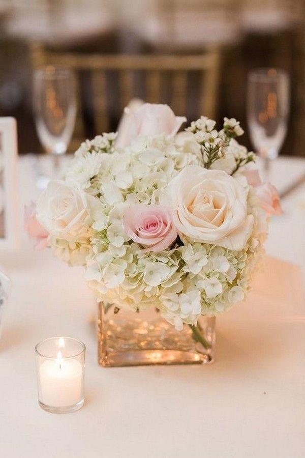 Weiß Und Pink Elegantes Hochzeits Herzstück Mit Kerzen