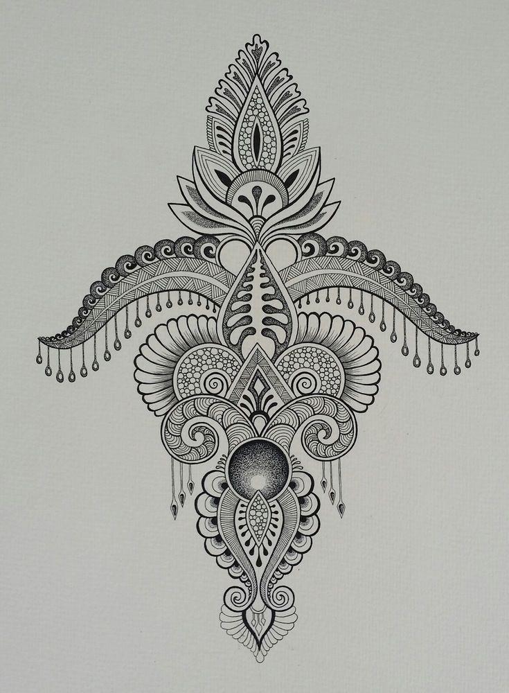 Image of art print mandala tattoo ideen tattoo vorlagen und malerei - Vorlagen malerei ...