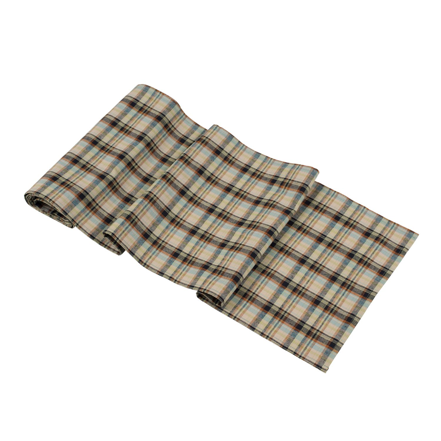 Plaid Taupe Huddleson Linens Plaid Neutral Taupe Brown Blue Green Cotton