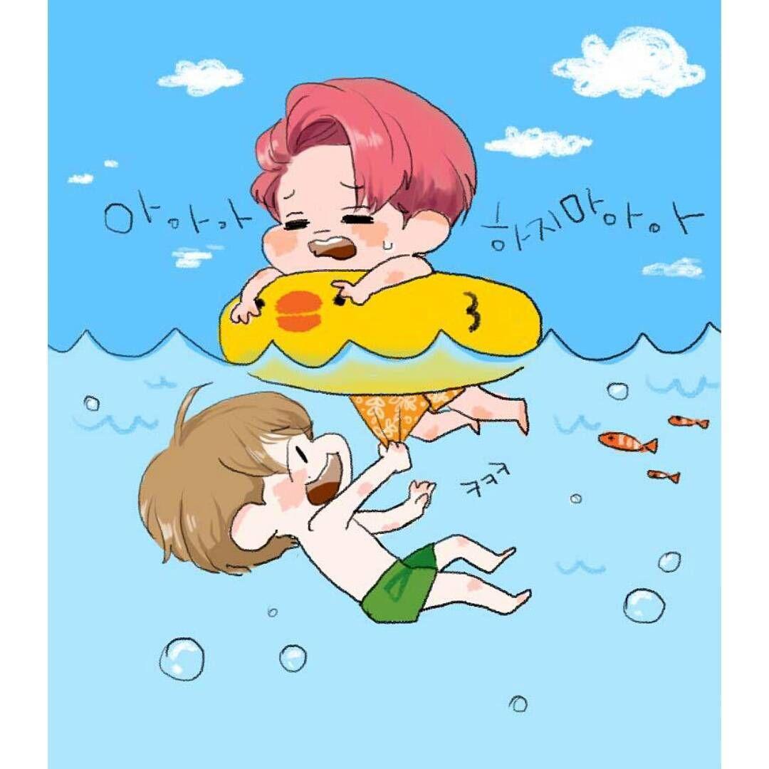 Google themes exo chibi - Exo Chibi Cute Tr N Instagram 150801 Baekie Nini Full Ver