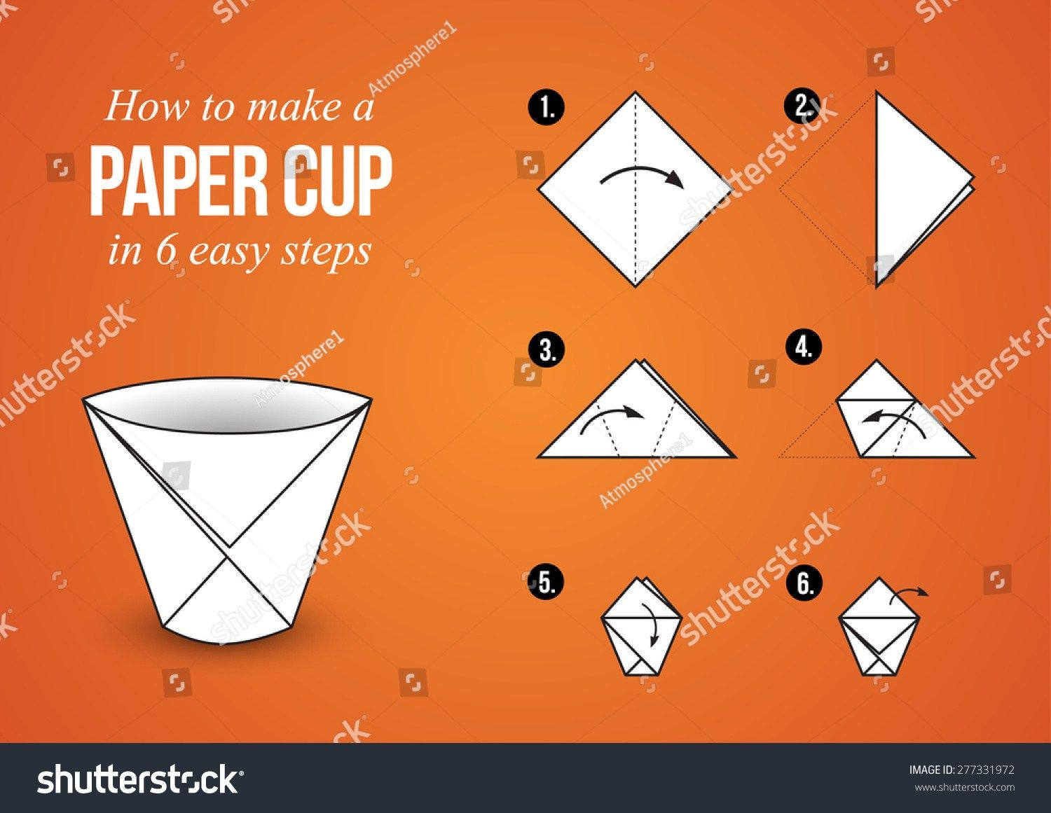 Origami For Beginners Step By Step Easy Origami Pig Face Easy Origami For Kids Kids Crafts For Easy Ori Origami For Beginners Origami Tutorial Easy Origami Cup