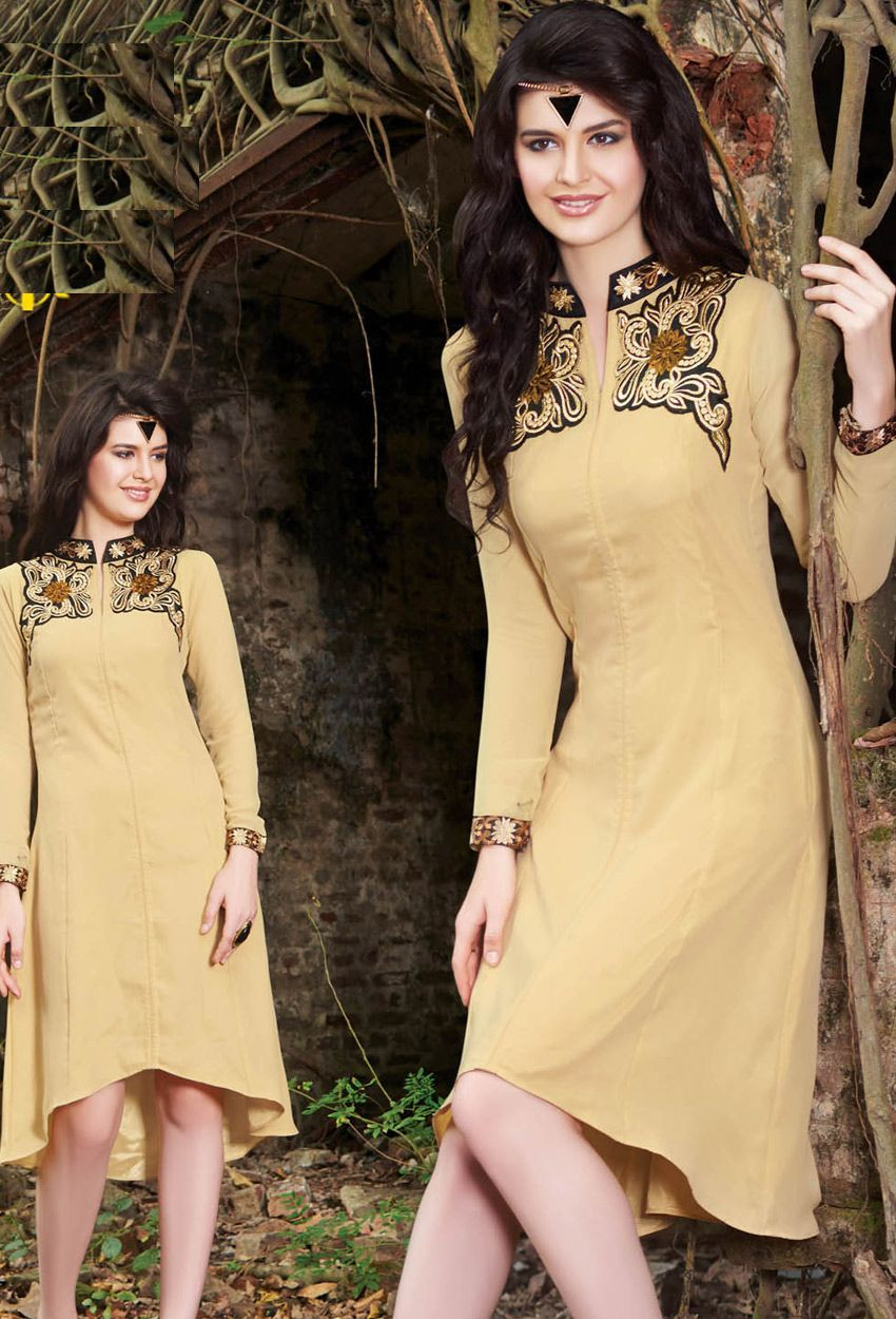 e150ac81e6 #Readymade #Cream #Georgette #Kurti #nikvik #usa #designer #australia # canada #freeshipping #fashion #dress #tunic