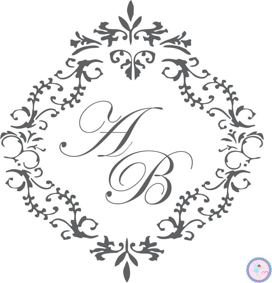 Monograma, Brasão, Casamento. Peça já o seu! www.elo7.com.br ...