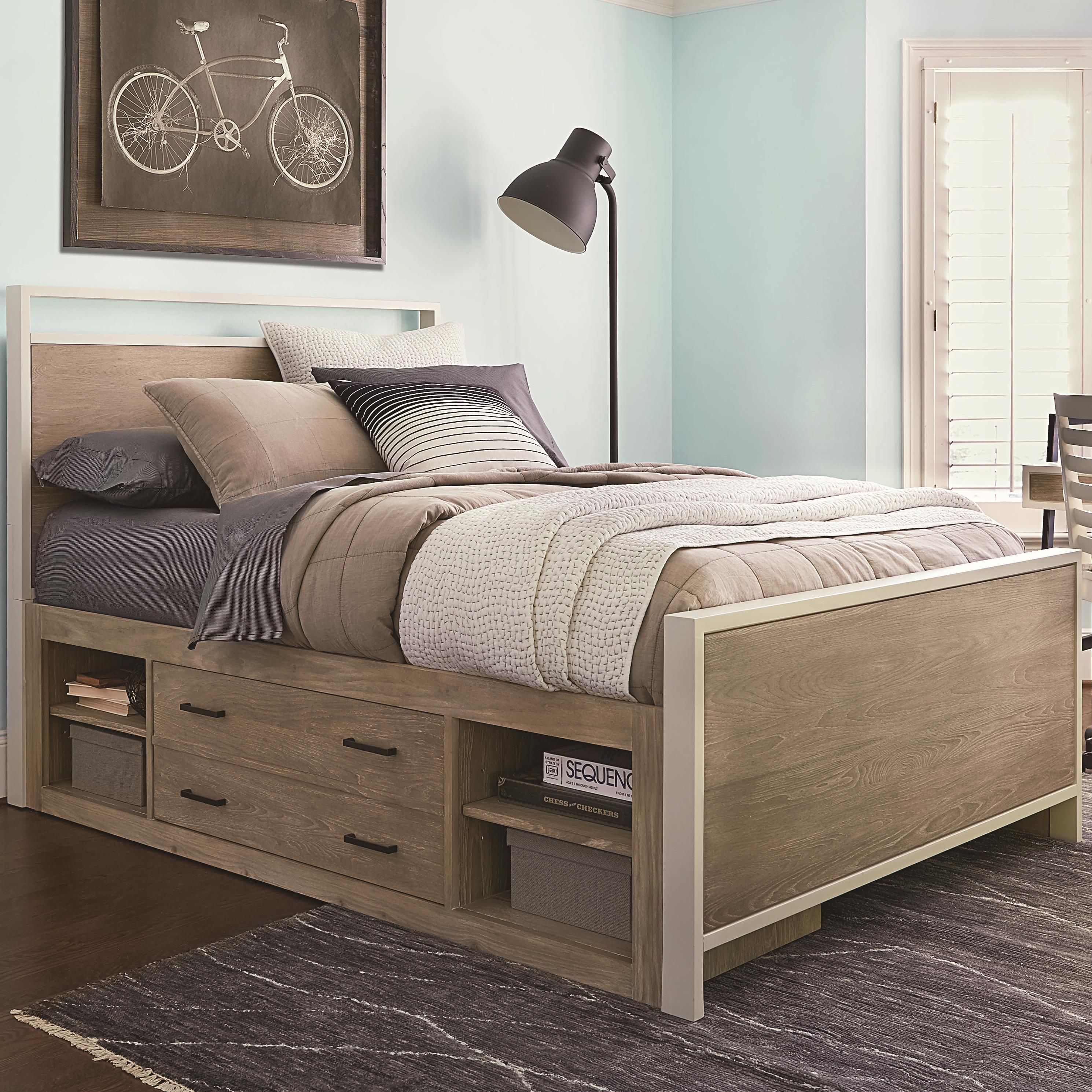 Myroom Full Panel Bed With Underbed Storage By Smartstuff In 2020