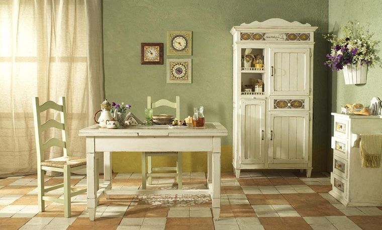 colori-pareti-cucina-verde-salvia nel 2020 | Arredamento ...