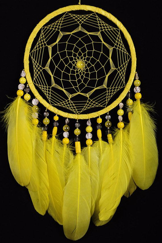 Dreamcatcher Yellow Decor boho Dream Catcher lime Dreamcatcher Dream ...