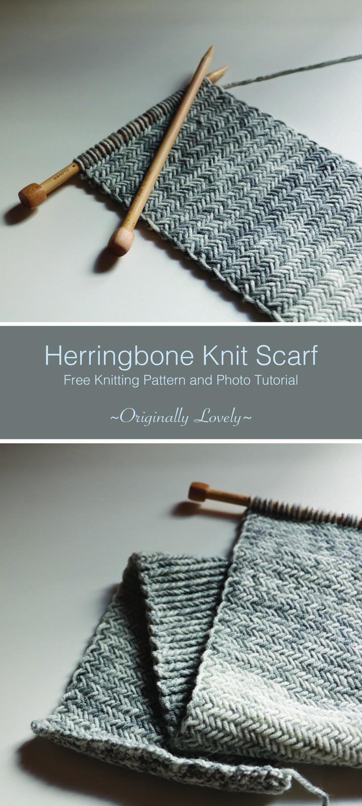 Herringbone Knit Scarf | Herringbone, Knit patterns and Scarves