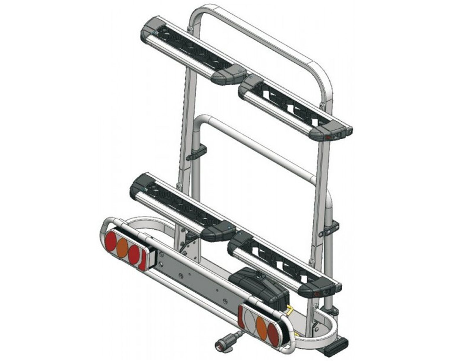 BICI Exclusive Ski & Board Deluxe Rear rack for 6 pairs