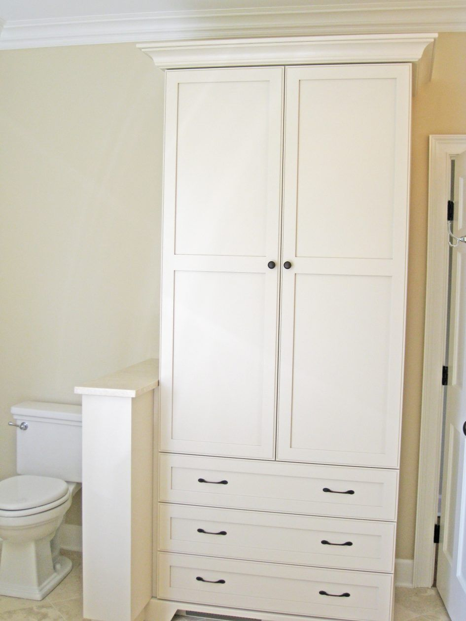 Bathroom Bathroom Linen Cabinets Beautiful White Color Combined With ...