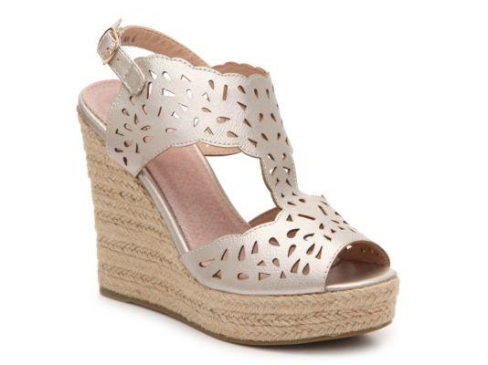 1dee789f8be Women's GC Shoes Celina Metallic Wedge Sandal - Pewter Metallic ...