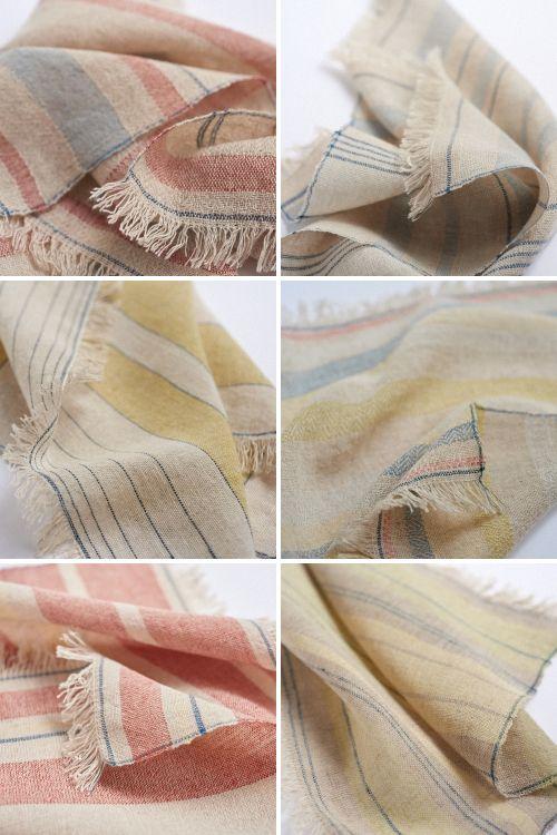 handwoven cotton&linen handkerchief