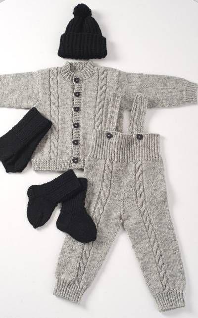 Vauvan housut ja jakku, koot 60-110. Novita.