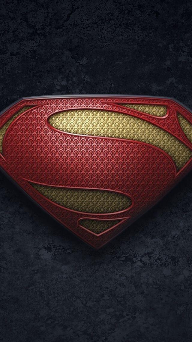 Man Of Steel Logo 2 IPhone 5s Wallpaper