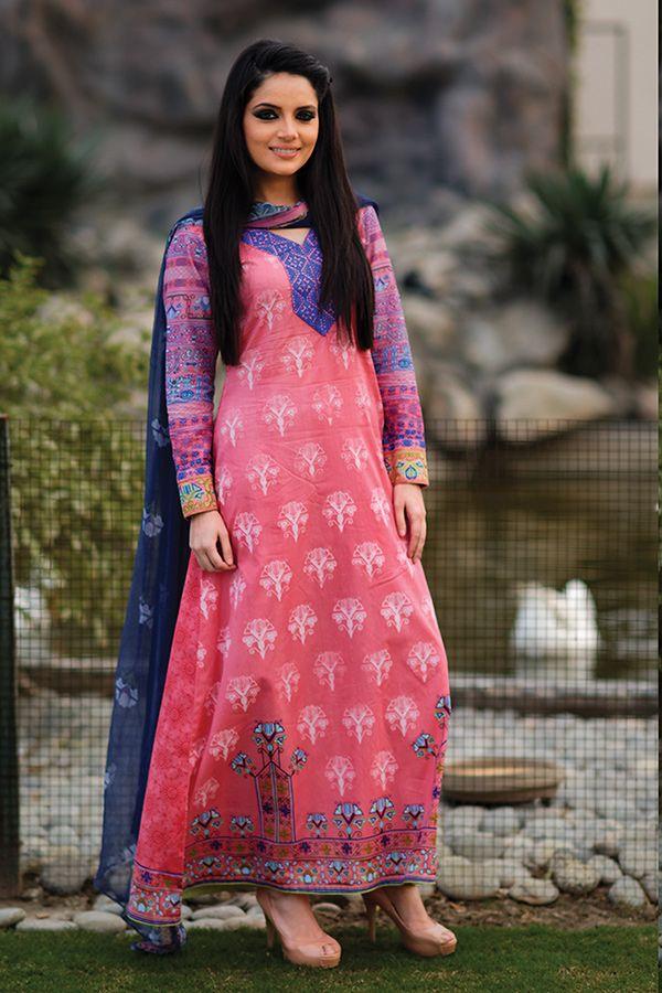 3 pcs - -2014 Lawn ARMEENA RANA KHAN   Pakistani Models & Actress ...