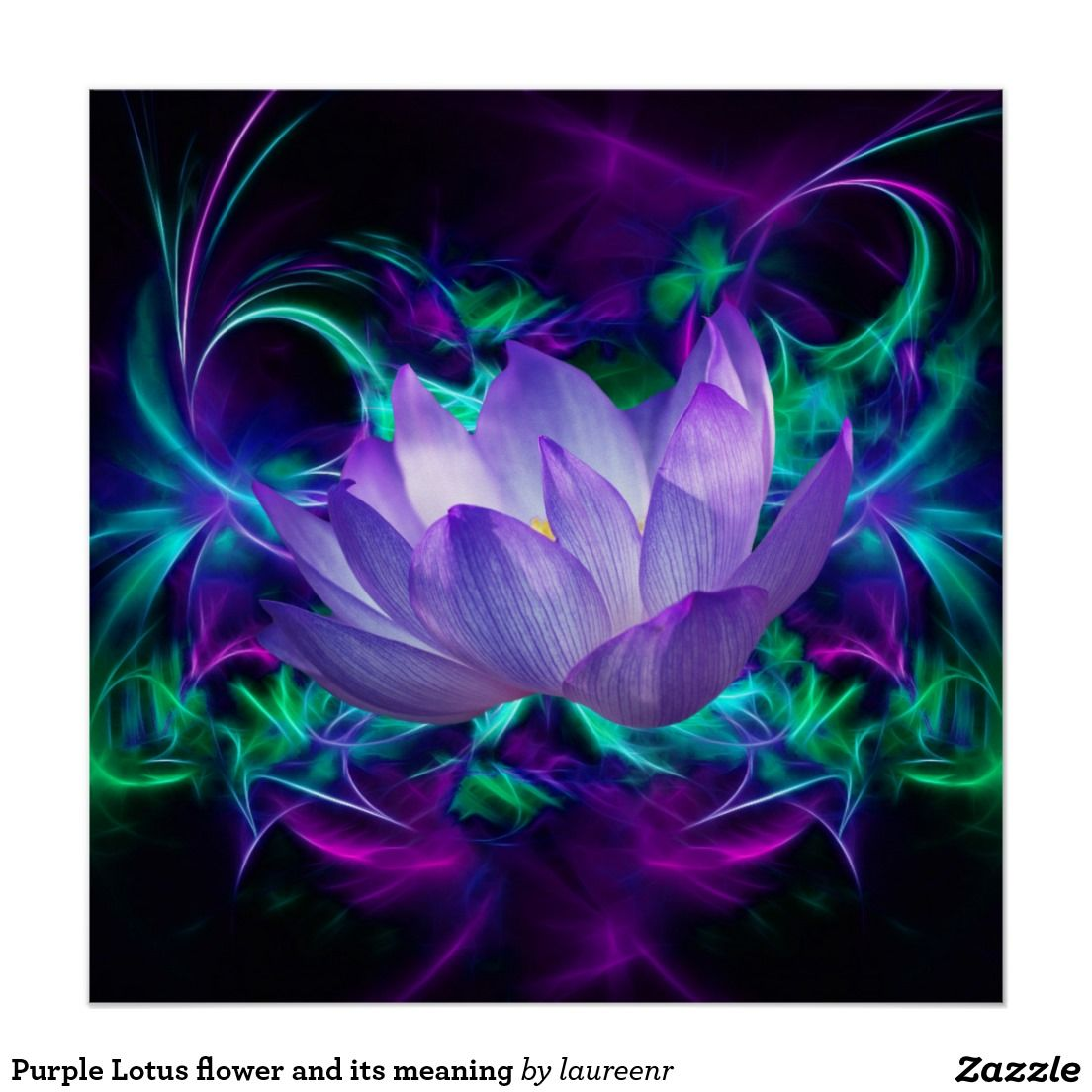 Purple Lotus Flower And Its Meaning Poster Pinterest Lotus