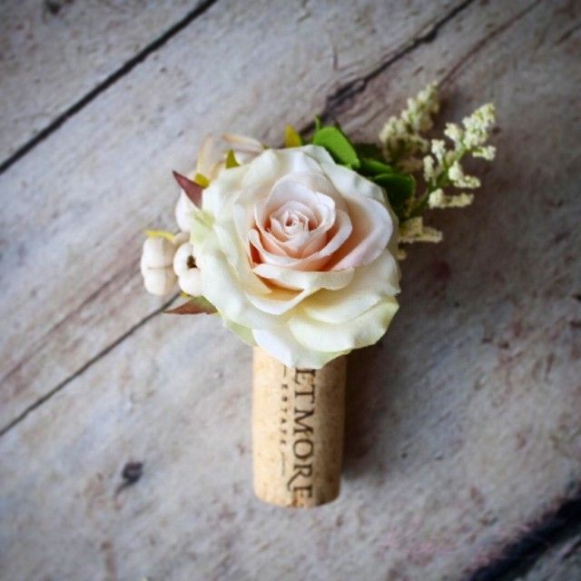 Wedding Cork Boutonniere: Love These Custom Wine Cork Boutonnières We Are Prepping