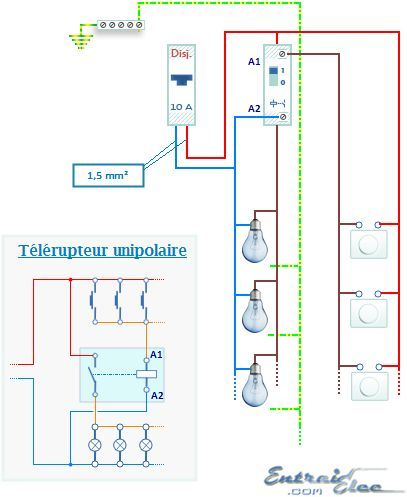 telerupteur_unipolairepng (407×497) Electri Pinterest - logiciel pour dessiner maison