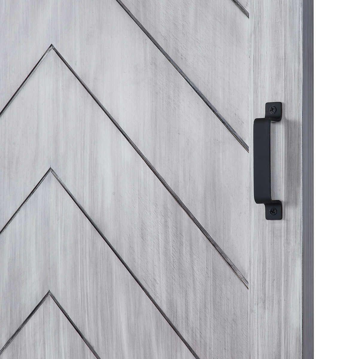 Renin Herringbone Barn Door With Hardware Kit Easy Glide Soft Close Wood Barn Door Barn Door Barn Door Hardware