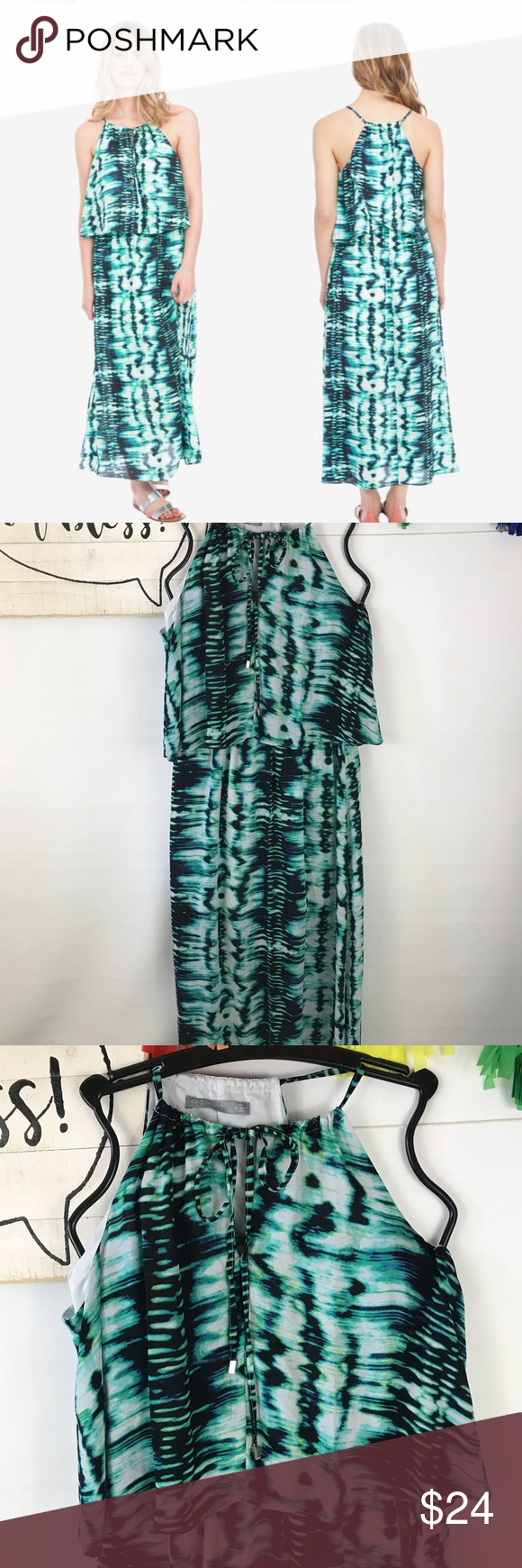 Octavia double layer woven maxi dress my posh closet pinterest