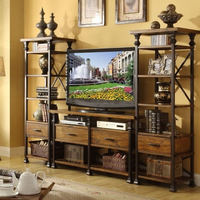 Shelf Picture More Detailed Picture About Han Yun American Vintage Antique Wood Living Room Tv Cabi Furniture Home Entertainment Centers Distressed Furniture