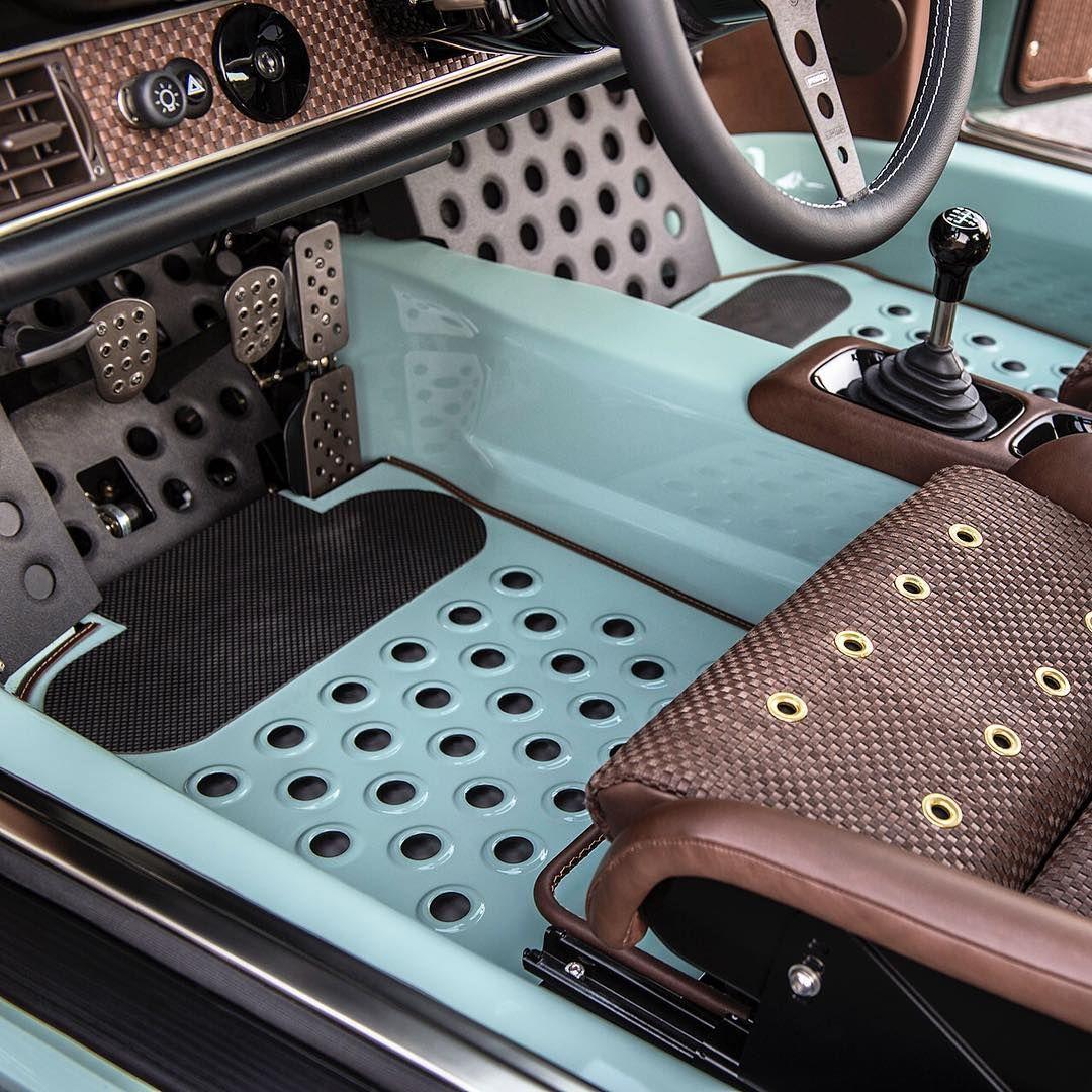 A closer look at the custom aluminum floor mats in the