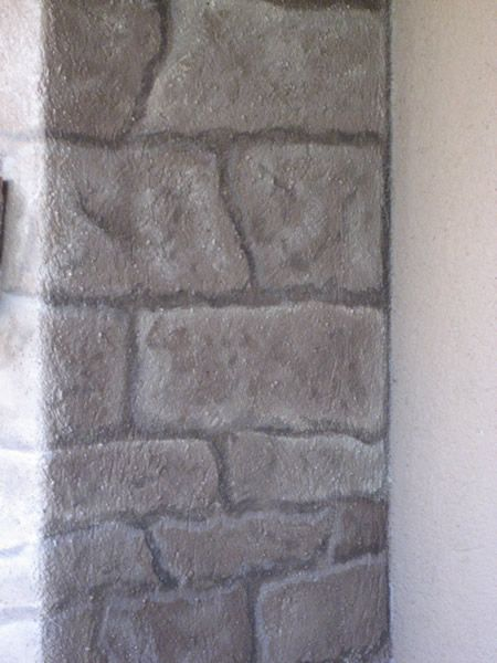 faux stacked stone paint treatment | Outdoor Fireplace Faux Stone ...