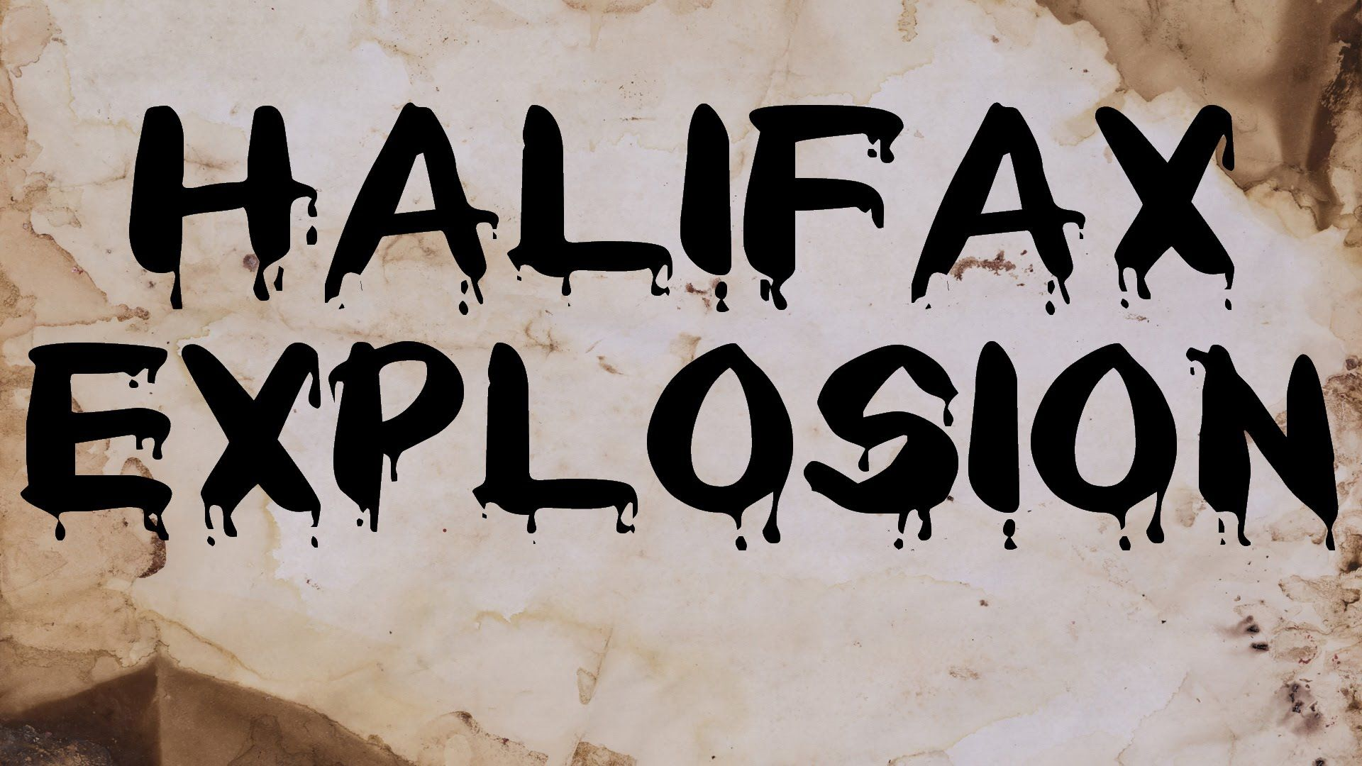 The Halifax Explosion That Erased An Entire City In Canada.