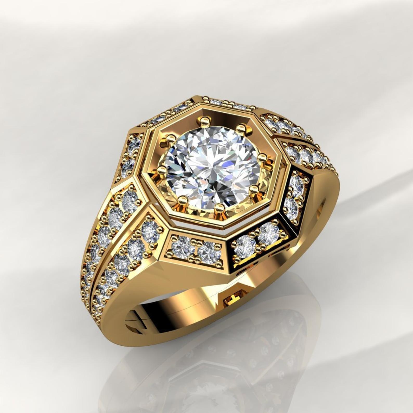 Forever One moissanite diamond vintage style engagement