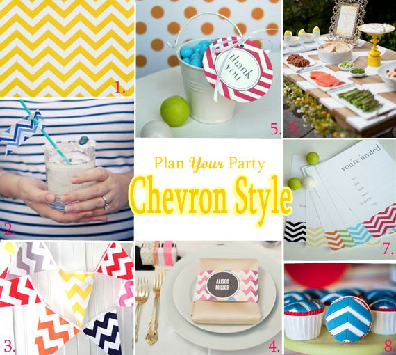 Chevron inspiration for your next party.