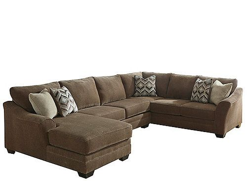 This Ormond 3 Piece Chenille Sectional Sofa With Laf Chaise Is At