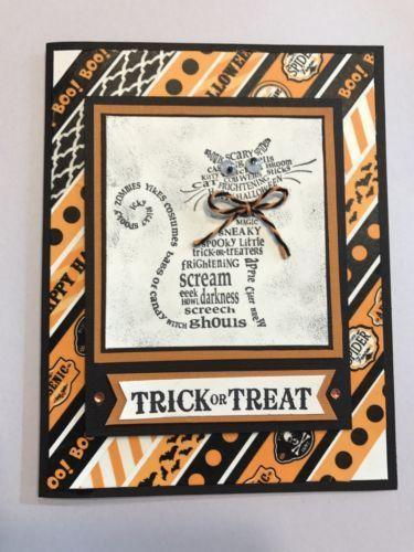 25 + › Einzelheiten über Stampin 'Up Handmade Greeting Card Halloween Card #stampin#39;up!cards