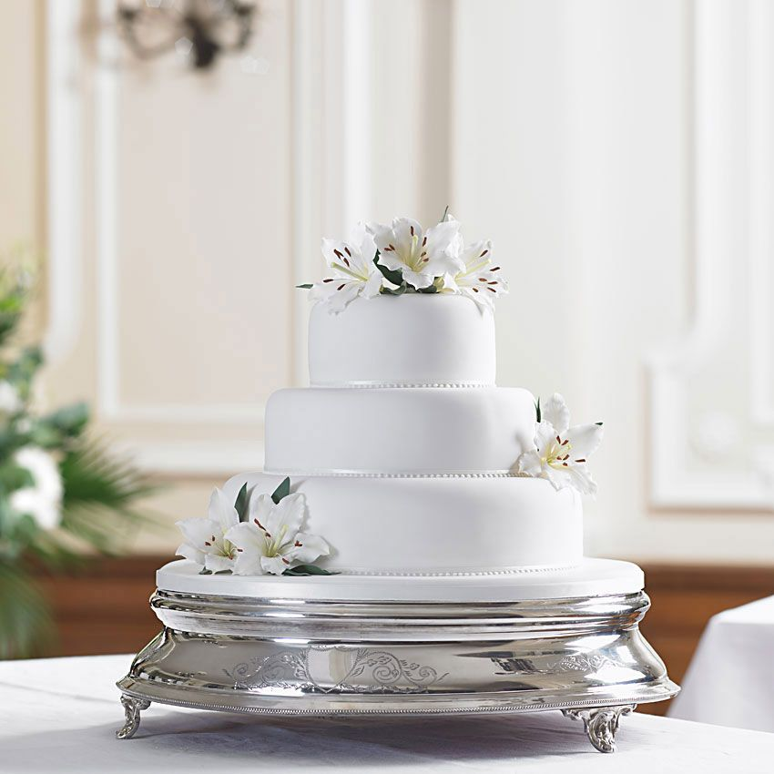 Beautiful Wedding Cakes By The Baking Grounds Bakery Café: Bettys Lily Cascade Wedding Cake: The Beautiful Realistic