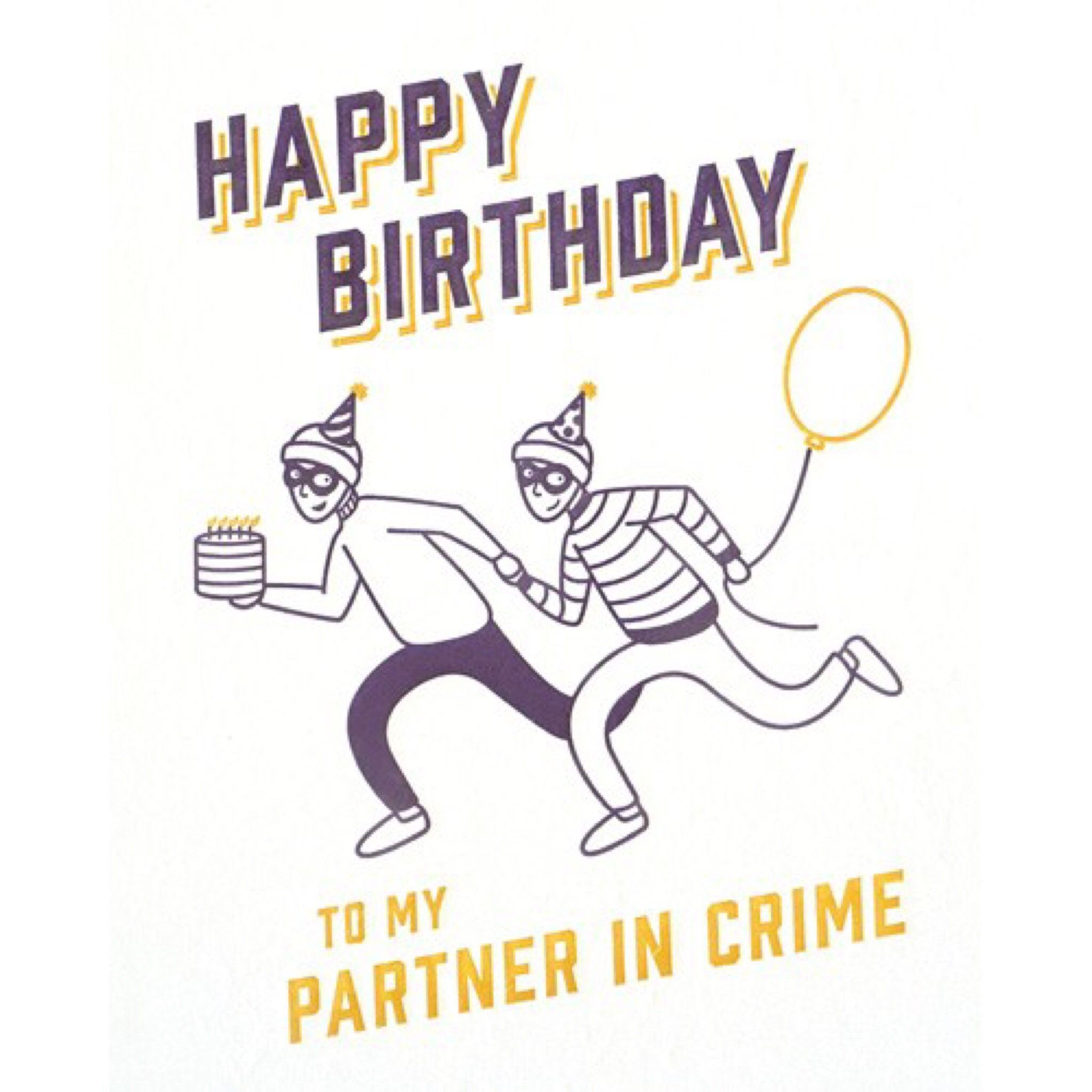 Partner In Crime Birthday Card Happy Birthday For Her