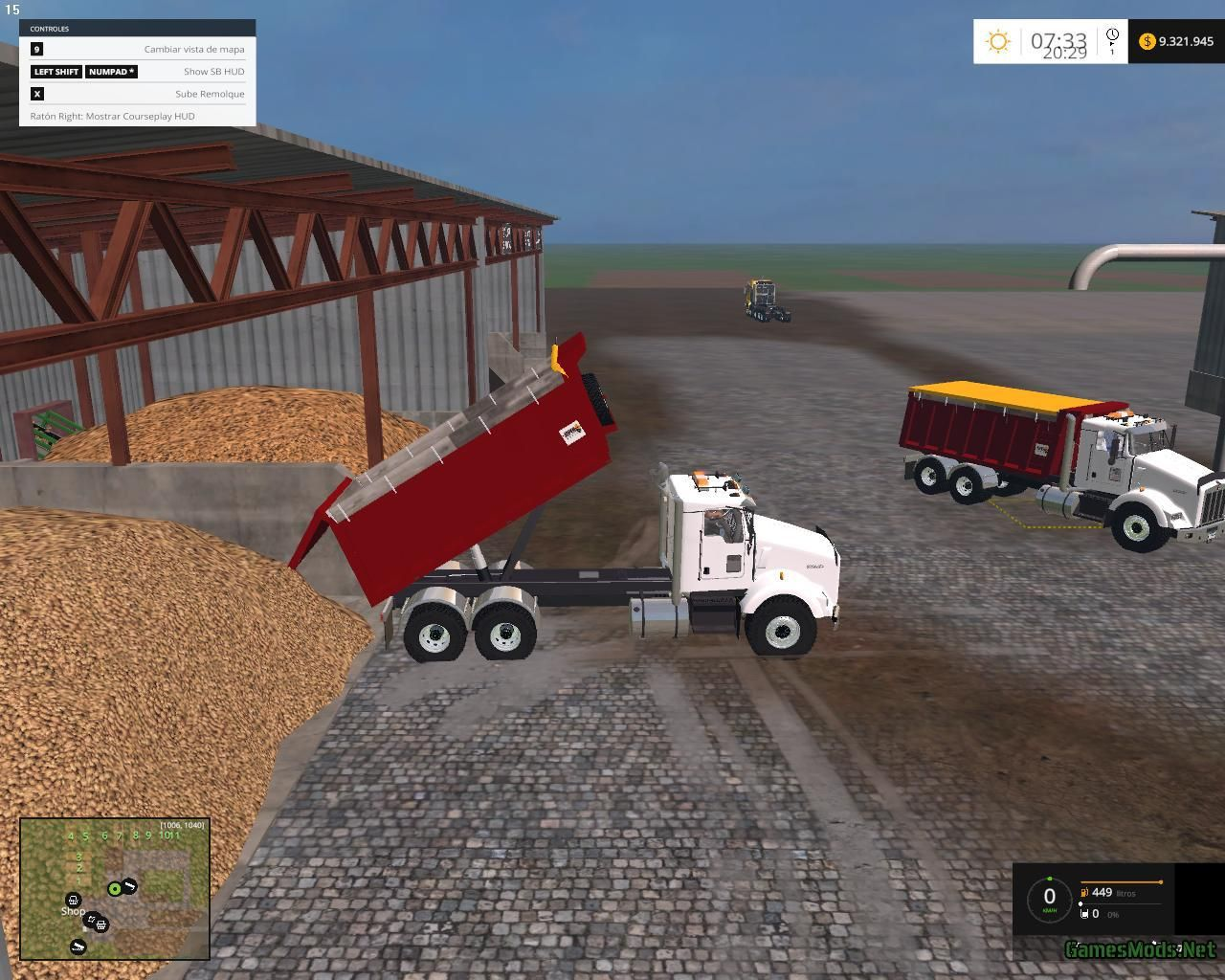 Farming simulator 2015 kenworth dump v1 farming simulator 2015 mods trucks fs15