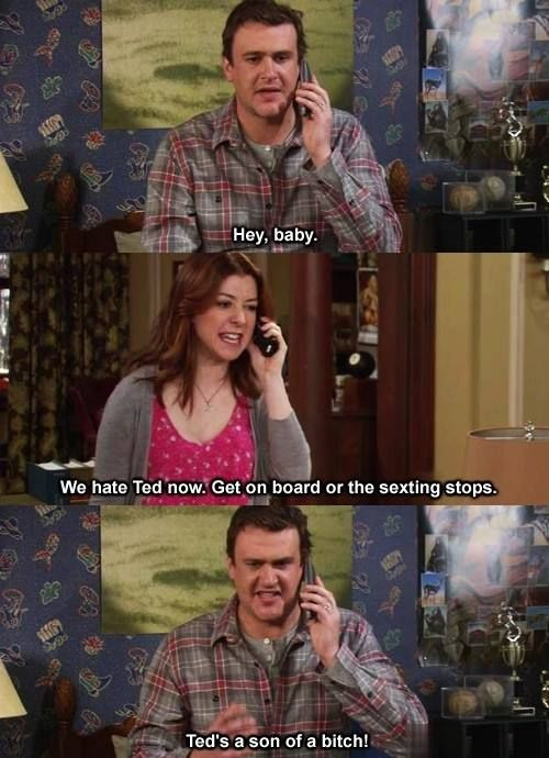 How I Met Your Mother Lily And Marshall We Hate Ted Now