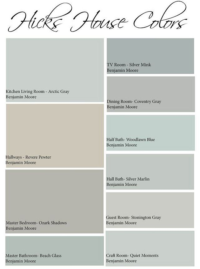 Awesome Interior Paint Palettes #2 Interior House Paint Color Palette
