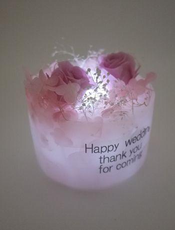 花キャンドル 白色ライト