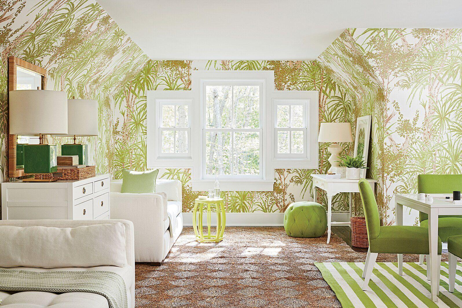 The Hottest Pinterest Home Design Trends Of 2017 In 2021 Design Living Room Wallpaper Green Rooms Living Room Designs Wallpaper home decor living room
