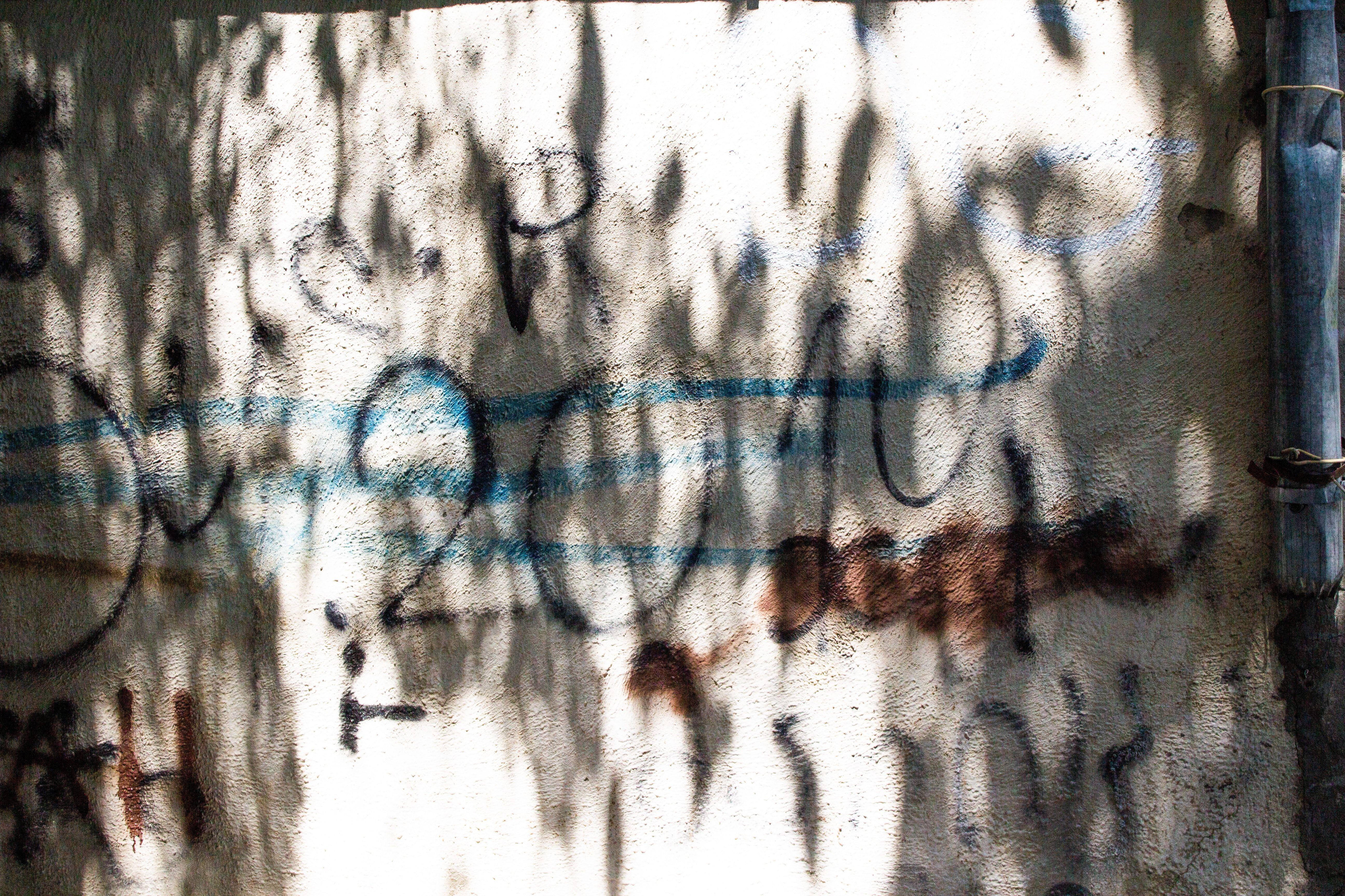 Text Graffiti Wall Gray Concrete Wall Gray Concrete Wall Cement Wall With Graffiti And Shadows Concrete Wall Cement Walls Concrete
