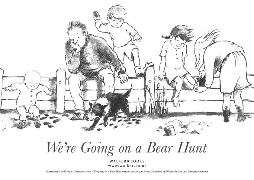 Were Going On A Bear Hunt Coloring Page Fun Book To Read With The Kids