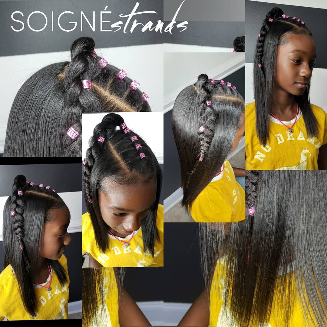 Little Girl Hairstyle With A Rubberbands Soignestrands With