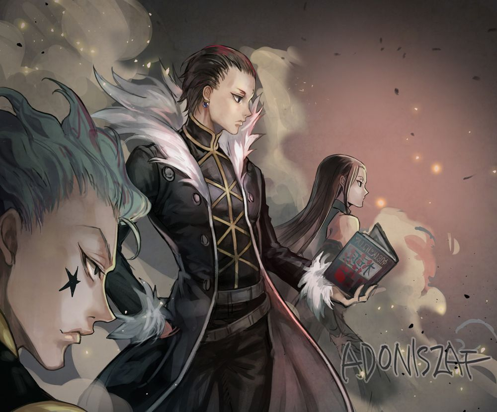 Hisoka chrollo lucifer anime illumi hunter x hunter wallpaper. kuroro & hisoka & illumi | Hunter x hunter, Hisoka, Hunter