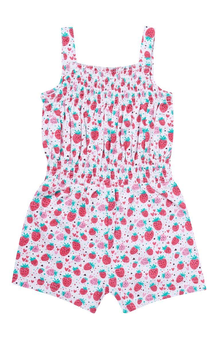 bbf5d78a306ab Combi-short imprimé fraise en jersey