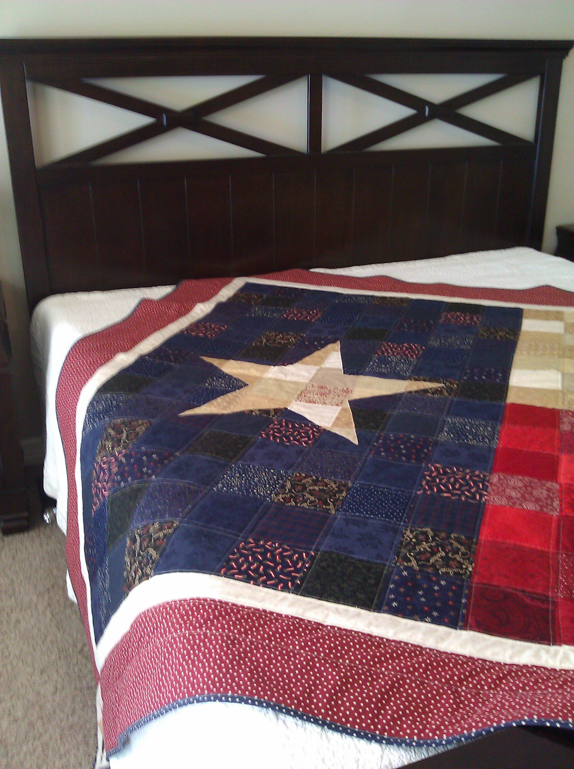 Image Of Texas Flag Quilt Pdf Pattern Flag Quilt Texas Quilt Quilts